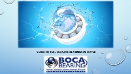 GUIDE TO FULL CERAMIC BEARINGS IN WATER PowerPoint PPT Presentation