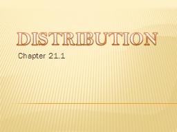 DISTRIBUTION Chapter 21.1