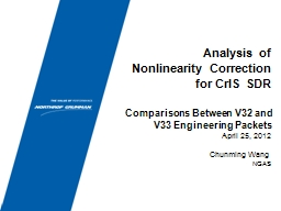 Analysis of Nonlinearity Correction for