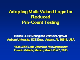 Adopting Multi-Valued Logic for Reduced PowerPoint Presentation, PPT - DocSlides