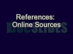 References: Online Sources