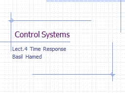 Control Systems Lect.4