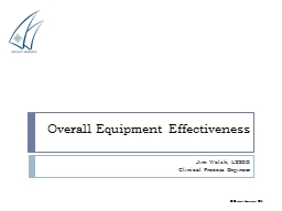 Overall Equipment Effectiveness PowerPoint PPT Presentation