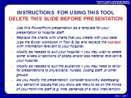 Use this PowerPoint presentation as a template for your presentation to hospital staff.