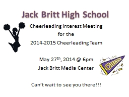 Cheerleading Interest Meeting