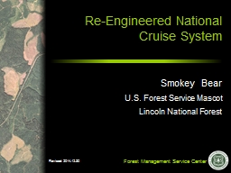 Re-Engineered National Cruise System PowerPoint PPT Presentation