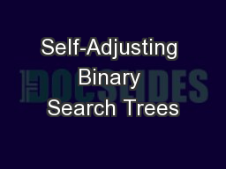 Self-Adjusting Binary Search Trees