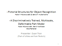 - Pictorial Structures for Object Recognition