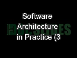 Software Architecture in Practice (3