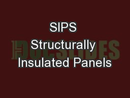 SIPS Structurally Insulated Panels