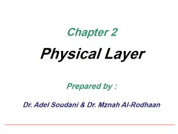 Chapter 2 Physical Layer