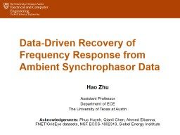 Data-Driven  Recovery of