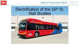 Electrification of the 16