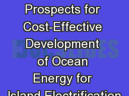 Global Prospects for Cost-Effective Development of Ocean Energy for Island Electrification