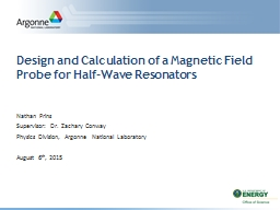 Design and Calculation of a Magnetic Field