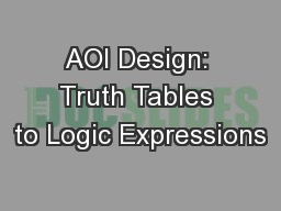AOI Design: Truth Tables to Logic Expressions