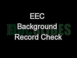 EEC Background Record Check