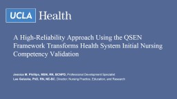 A High-Reliability Approach Using the QSEN Framework Transforms Health System Initial Nursing Compe