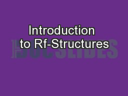 Introduction to Rf-Structures PowerPoint PPT Presentation