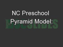 NC Preschool Pyramid Model: