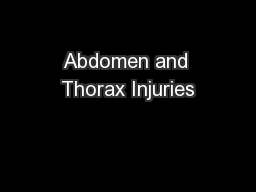 Abdomen and Thorax Injuries