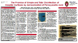 The Promise of Simple and Total Disinfection of