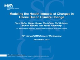 Modeling the Health Impacts of Changes in