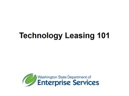 Technology Leasing  101 DES Leasing Team PowerPoint PPT Presentation