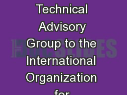 Update on the U.S. Technical Advisory Group to the International Organization for Standardization (
