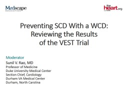 Preventing SCD With a WCD:
