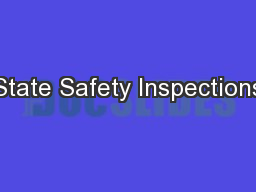 State Safety Inspections