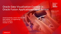 Oracle Data Visualization Content in Oracle Fusion Applications Cloud Service