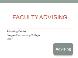 Faculty Advising  Advising Center