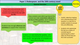 Paper 1 Shakespeare  and the 19th-century novel
