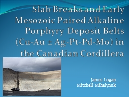 Slab Breaks and Early Mesozoic Paired Alkaline Porphyry Deposit Belts