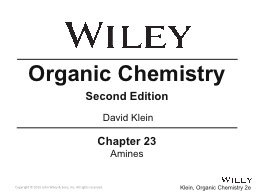 Chapter 23 Amines Organic Chemistry