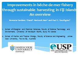 Improvements in bêche-de-mer fishery through sustainable harvesting in Fiji