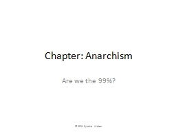 Chapter: Anarchism Are we the 99%?