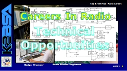 Design Technician Radio Station Engineers
