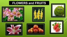 FLOWERS and FRUITS  Angiosperms is the name given to plants that produce flowers.