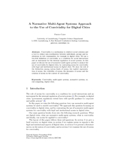 A Normative MultiAgent Systems Approach to the Use of