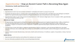 Apprenticeship  – How an Ancient Career Path is Becoming New Again