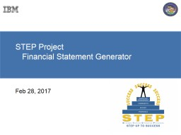 STEP Project     Financial Statement Generator
