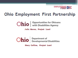 Ohio E mployment First Partnership PowerPoint PPT Presentation