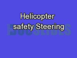Helicopter safety Steering
