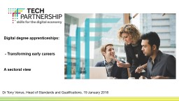 Digital degree apprenticeships: