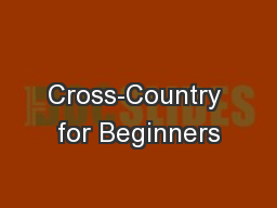 Cross-Country for Beginners