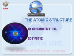 The atomic structure IB Chemistry HL