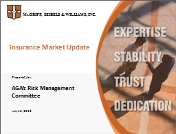 Insurance Market Update Prepared for:
