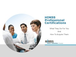 HIMSS Professional Certifications
